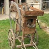 Sgrana pannocchie  Di mais antica in legno