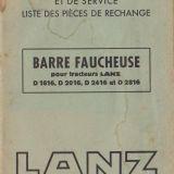 Raro libretto originale  Falciatrice laterale portata lanz