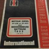 Libretto uso e manutenzione International International 953 idro mietitrebbia