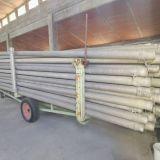 Rimorchio completo di tubi zincati in alluminio  con 115 tubi e vari raccordi