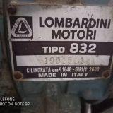 Motopompa Lombardini Avviamento elettrico 832