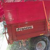 Rimorchio  monoasse francini modello f15