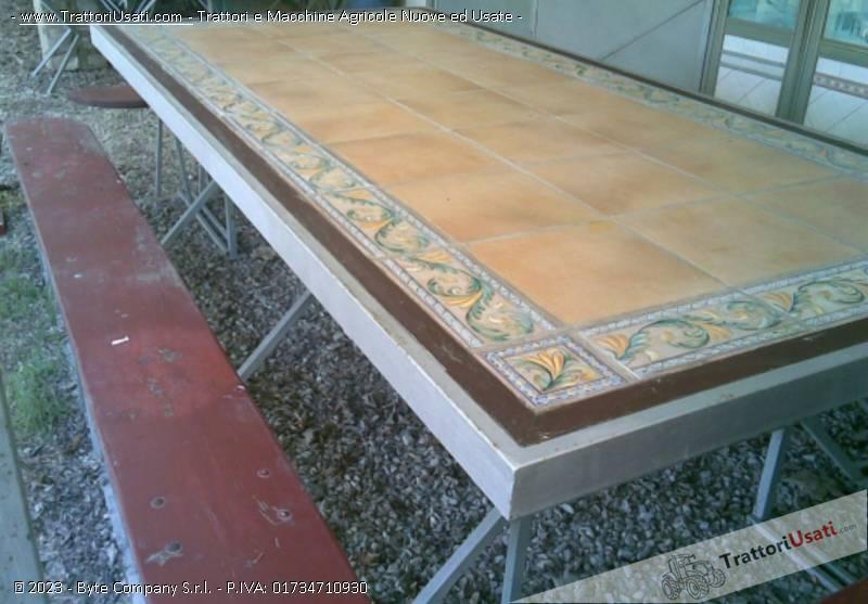 Tavoli Da Giardino Con Piano In Ceramica.Tavolo Da Giardino Con 4 Panche