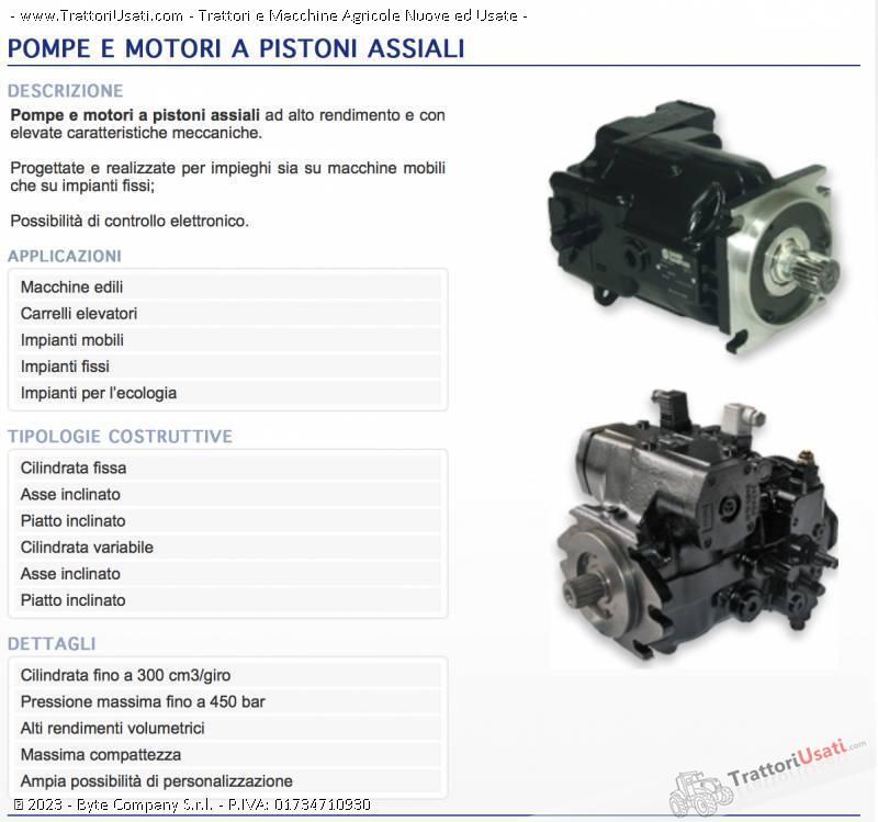 Foto Annuncio Pompe e motori a pistoni assiali  - oleodinamiche e motori oleodinamici taurasi