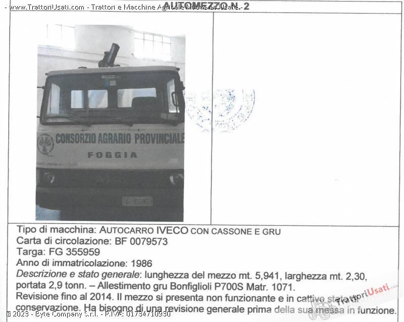 Foto Annuncio Autocarro  - iveco con cassone e gru