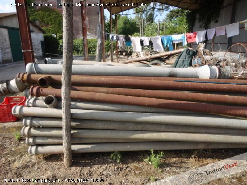 Tubi In Ferro Zincato Usati.80 Tubi Irrigazione Zincati