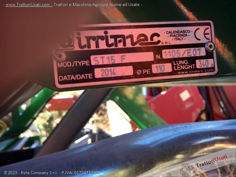Irrigatore semovente  - st15f 110/340 irrimec 1