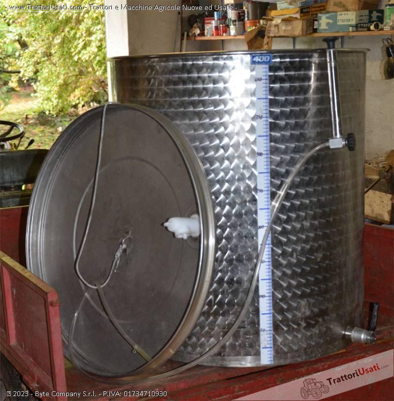 Botte in acciaio  - inossidabile 400 litri 0