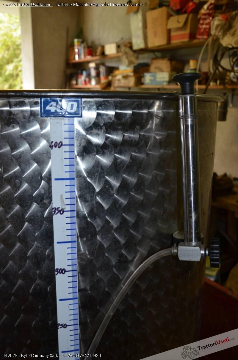 Botte in acciaio  - inossidabile 400 litri 1