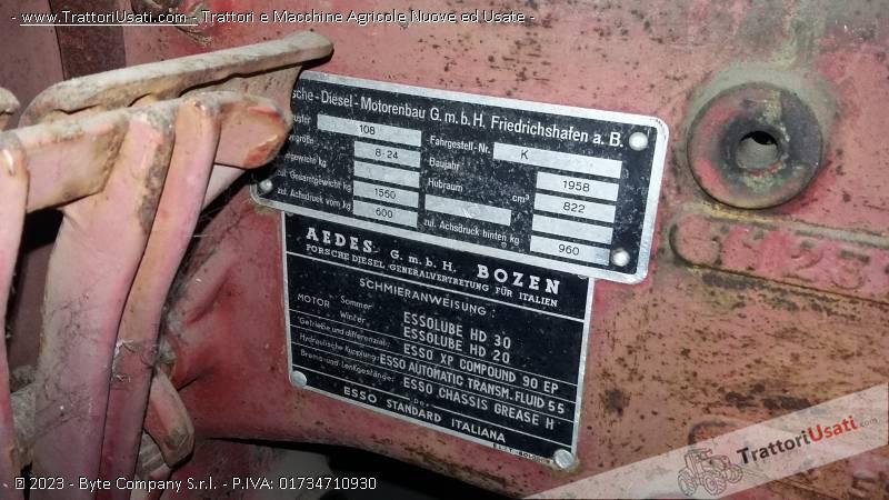 Trattore d'epoca porsche - junior 108 diesel monocilindro 2