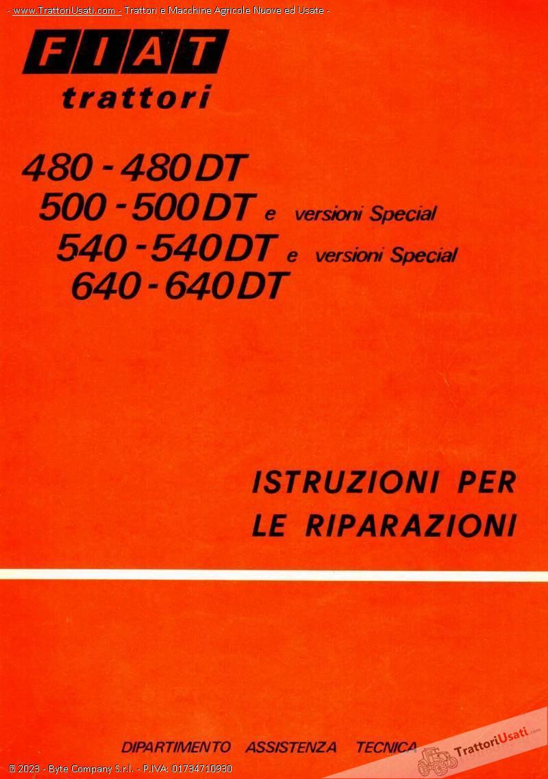 Manuali Officina Fiat Trattori New Holland