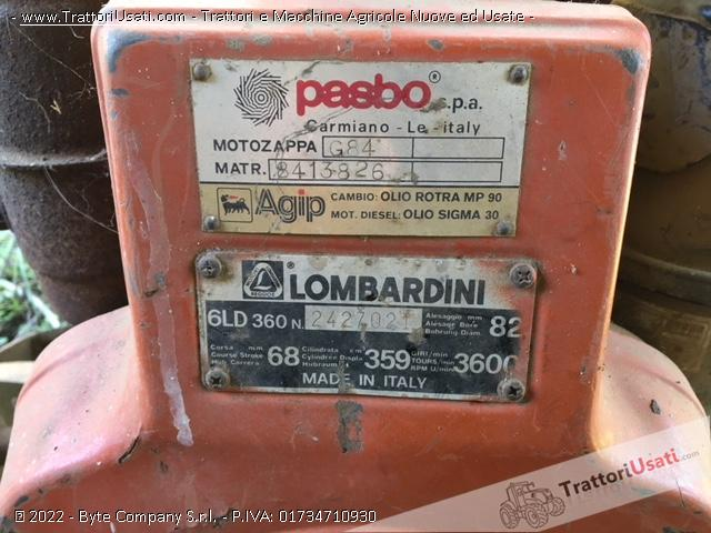 Motozappa lombardini - pasbo g84 2