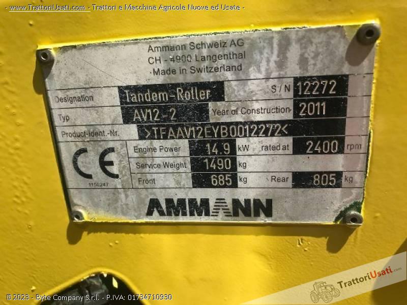 Rullo tandem  - av12-2 ammann 3