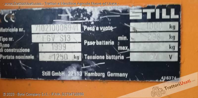 Stoccatore elettrico  - still egv s13 1