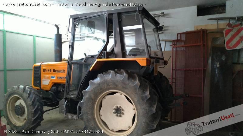 Trattore renault - rm 65-34 con altri macchinari 0