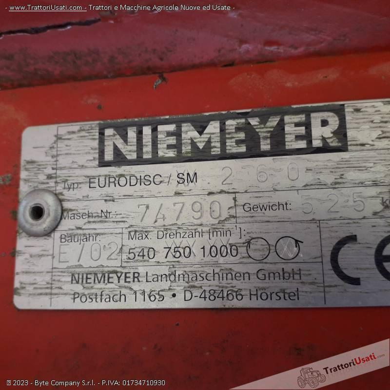 Falciatrice  - niemeyer eurodisc 260 1