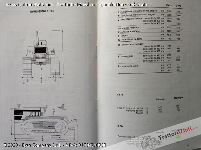 Trattore cingolato lamborghini - 774 c e attrezzatura 4