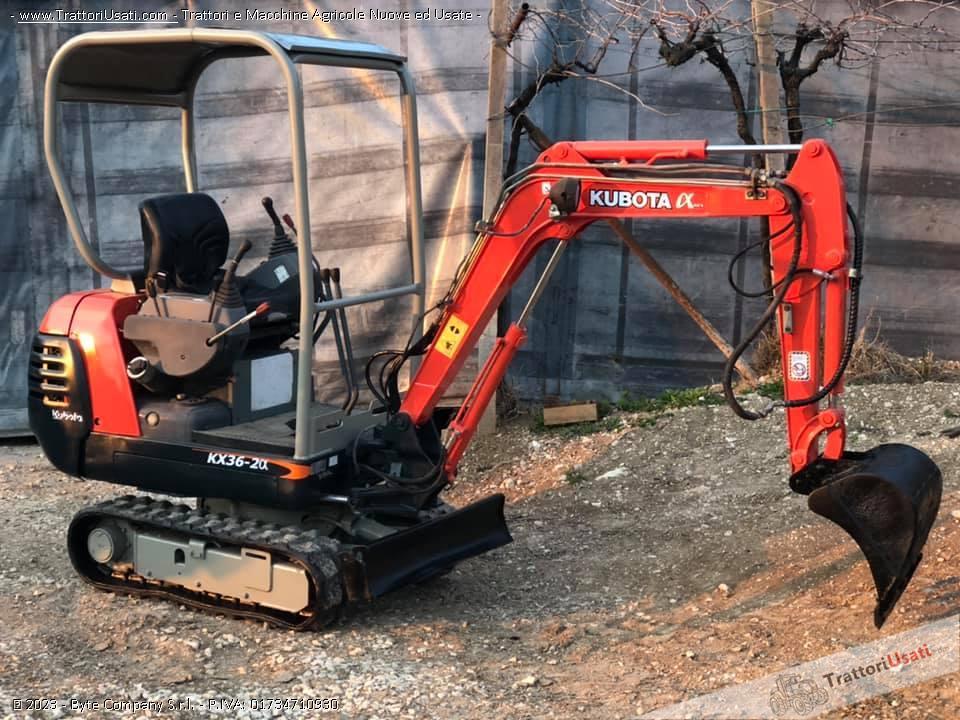Mini escavatore kubota - kx36-2 g 0