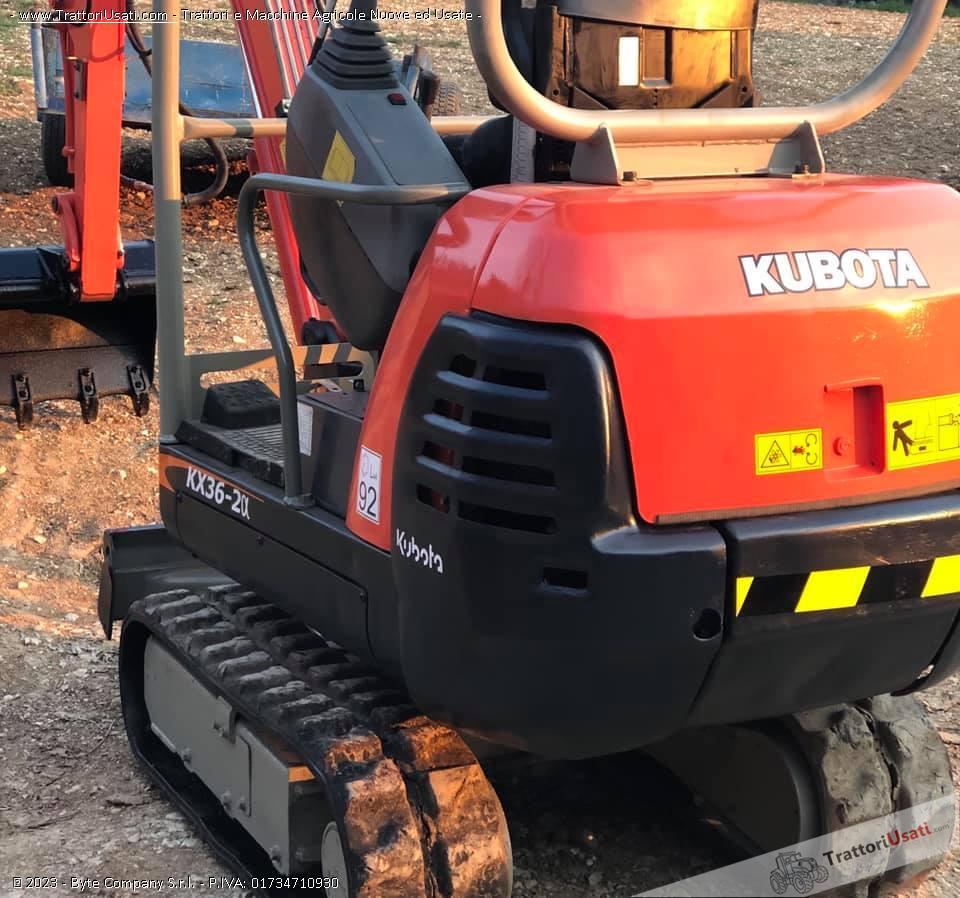 Mini escavatore kubota - kx36-2 g 1